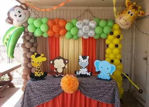 Decoracion De Baby Shower De Animales.Baby Shower Fiesta De Animales Safari Cumpleanos