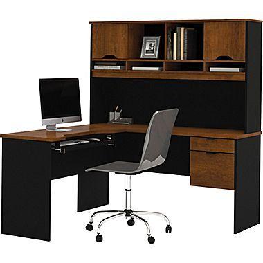 bestar innova corner computer desk tuscany brownblack