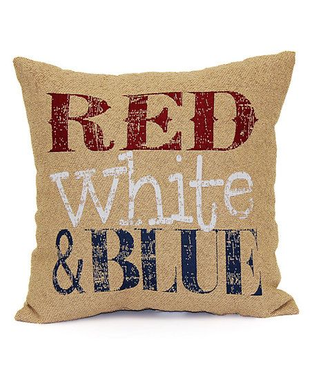Brentwood Originals Natural Red White Blue Throw Pillow