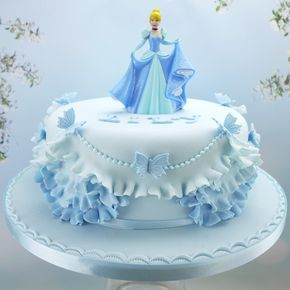 Pretty Cinderella Cake With Images Cinderella Birthday Cake