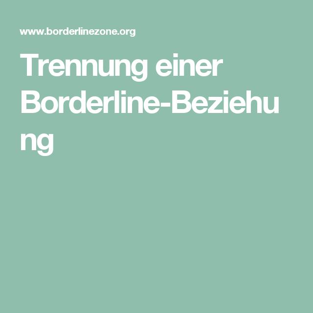 borderline in beziehung