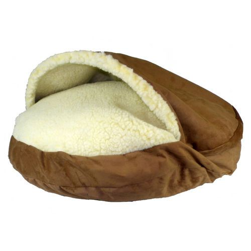 B Amp T Cozy Cave Dog Bed Saddle Xl 45 In Dia 96 95 Sherpa