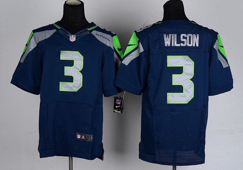various colors e6ad7 e3938 nike seattle seahawks 3 russell wilson navy blue limited jersey