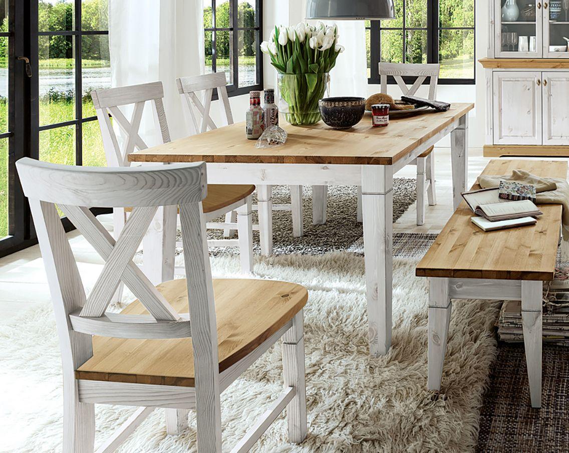 das herzst ck des esszimmers k nnte dieser tisch der serie rustico aus massivem kiefernholz. Black Bedroom Furniture Sets. Home Design Ideas