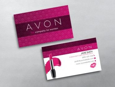 Avon Business Cards is part of Free business cards, Network marketing business card, Printing business cards, Avon business, Marketing business card, Avon - Custom Avon business card printing for Avon Independent Representatives  Design & print business card template online