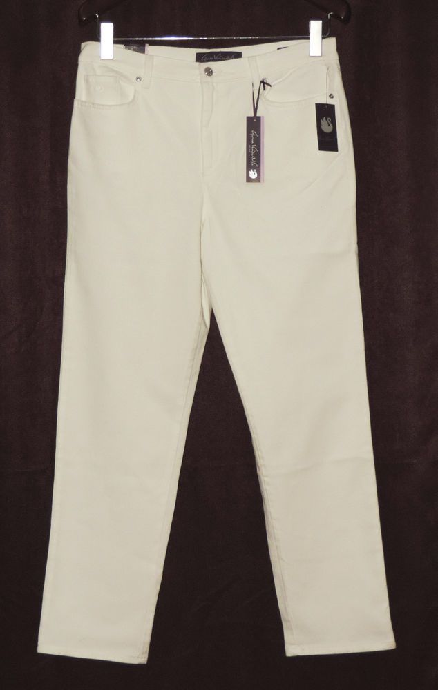 f6fa620e NEW Gloria Vanderbilt sz 14 Amanda Vintage White Denim Jeans NWT  #GloriaVanderbilt #TaperedLeg