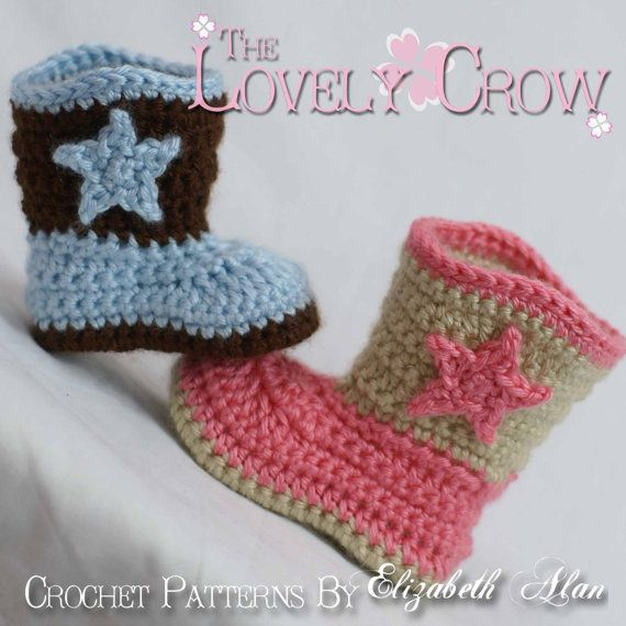 Boots Crochet Pattern Cowboy For Baby Boot Scootn Boots Digital