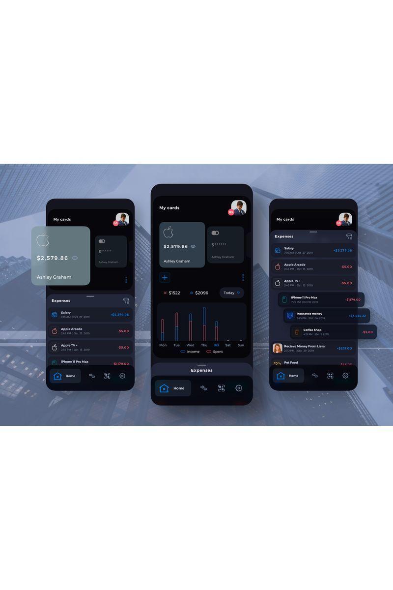 Damofy Finance Management Mobile UI Darkmode Sketch Template #94130, #Ad #Management #Finance #Damofy #Mobile