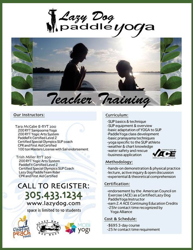 Athens Ga Lazy Dog Paddle Yoga Teacher Training Certification
