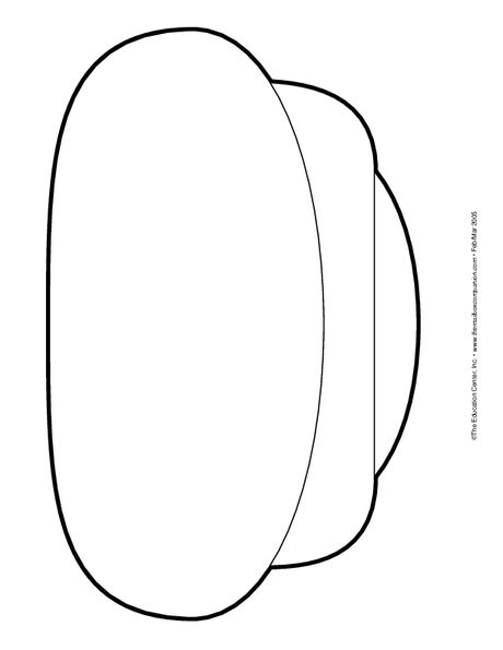 Enlarged Cap Pattern The Mailbox Lesson Plans For Toddlers Caps For Sale Caps For Sale Activities