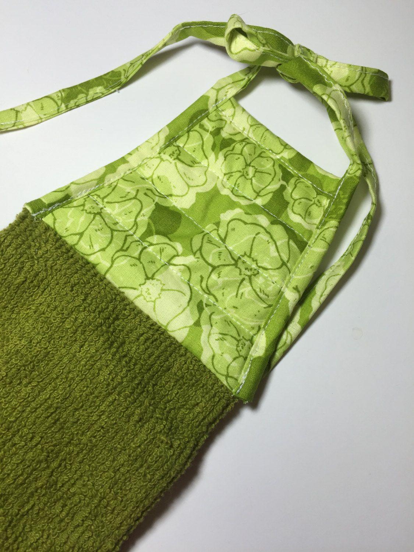 Green Tea TowelGreen Kitchen TowelGreen TowelDish TowelFlower