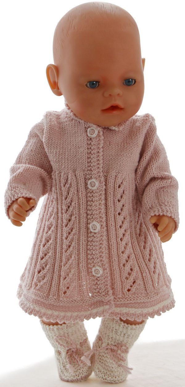 hand knitted dolls clothes patterns - A lovely outfit for ...