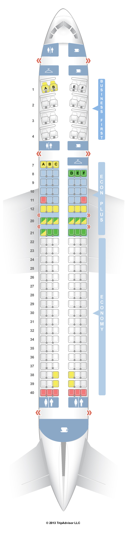 Seatguru Seat Map United Boeing 757 200 752 V2 Intl
