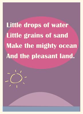 free printable nursery rhyme wall art Little drops of