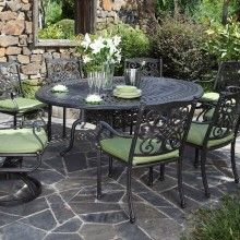Cast Aluminum Patio Furniture By Beka Oval Dining Set Sheridan Nurseries Outdoor Living Decor Cast Aluminum Patio Furniture Aluminum Patio Furniture