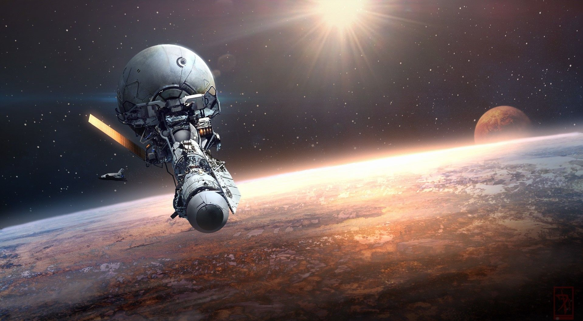 Wallpaper Planet Vehicle Artwork Earth Science
