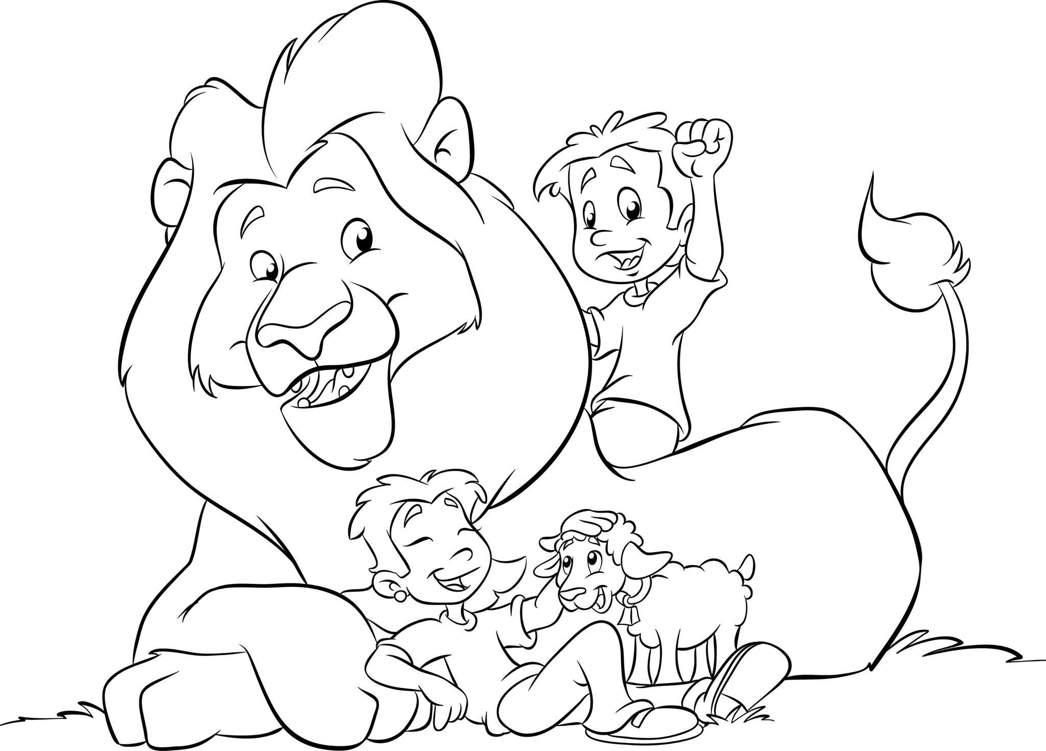 Nice Bible Coloring Pages Lion And Lamb That You Must Know