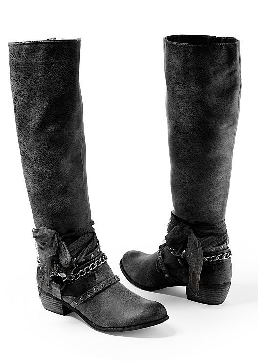 3e2d14fa012 Black Embellished western boot from VENUS