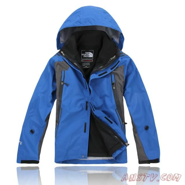 66b78ee3bb Hommes The North Face Gore Tex XCR Bleu Veste Sortie TNF6063 ...