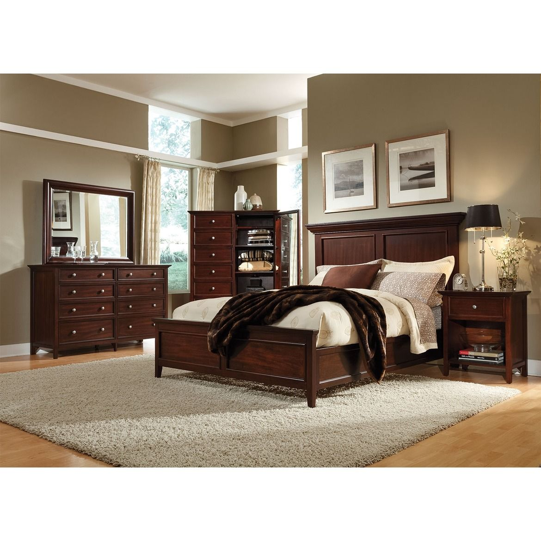 Ellsworth 4pc King Panel Bedroom Cherry Bedroom Furniture Sets Large Bedroom Furniture Cherry Bedroom Furniture
