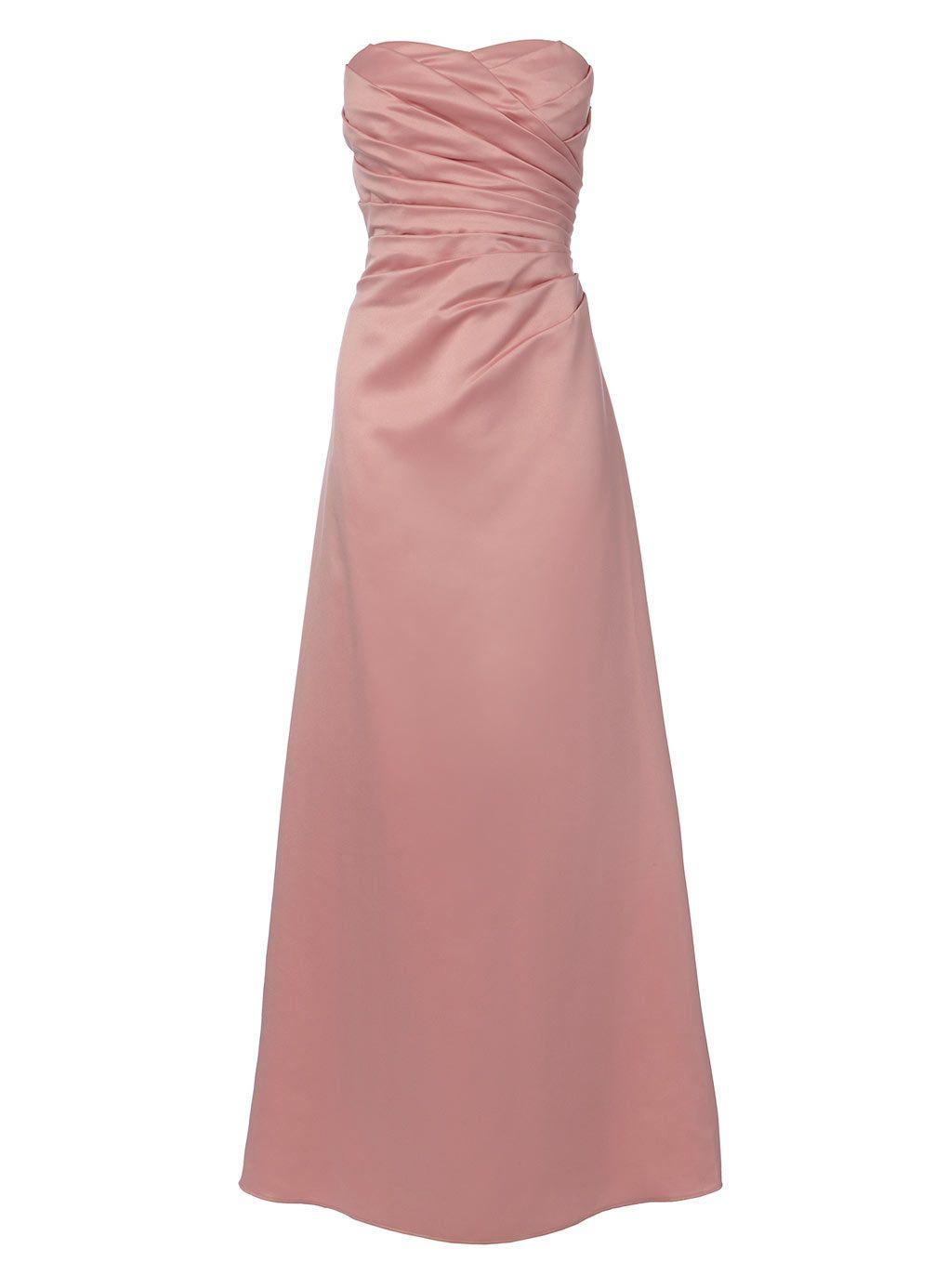 BHS Violetta Dusky Pink Satin Bridesmaid Dress £87.50 | Sisters ...