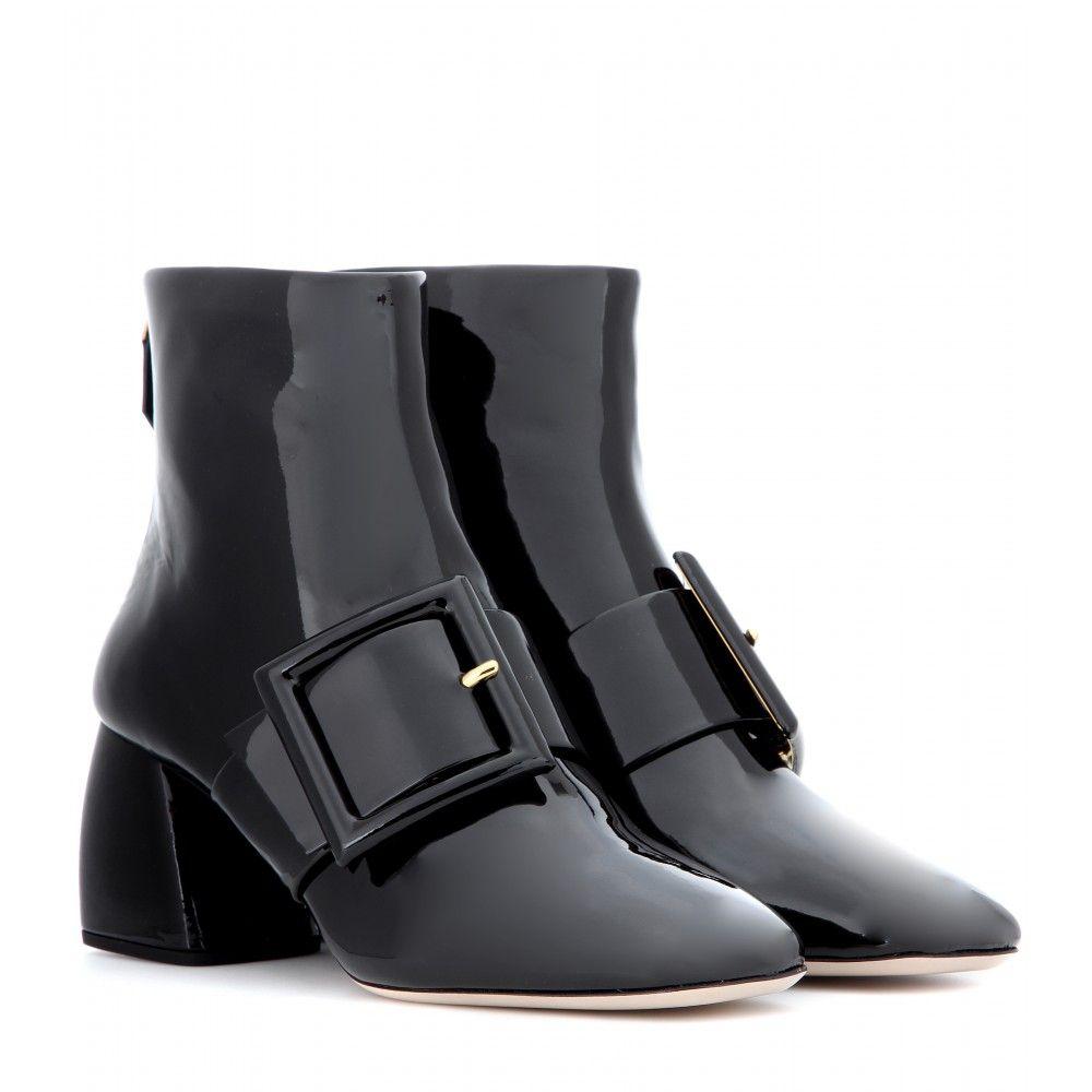 Miu Miu Patent Leather Ankle Boots MnhwNvR7x