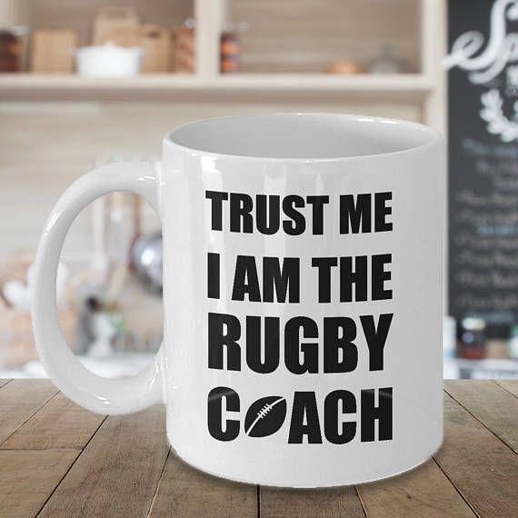 Rugby Coach Mug Rugby Coach Gift Personalized Coach Gift Mugs Mugs For Men Funny Coffee Mugs