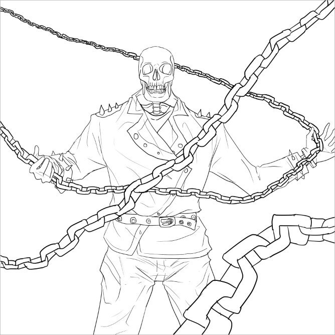 Ghost Rider Coloring Pages  Zum ausdrucken  Pinterest  Coloring
