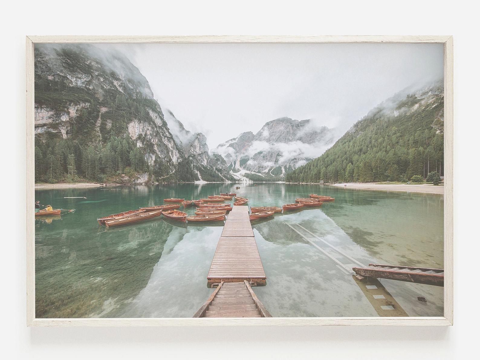 Lake Louise Wall Art Canada Lake Print Banff Park Boats On Etsy In 2020 Wall Art Canada Ocean Wall Art Canada Lakes