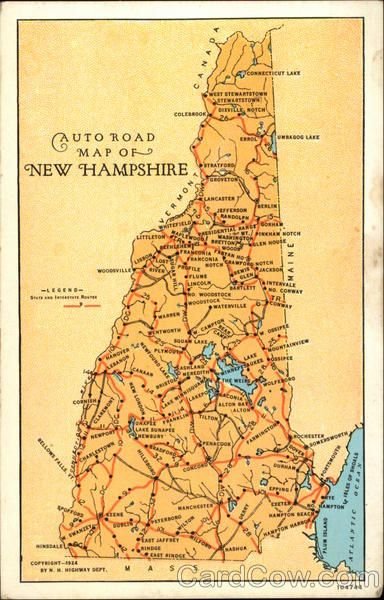 New Hampshire On Map Of Usa.Road Map Of New Hampshire I Love Maps New Hampshire United