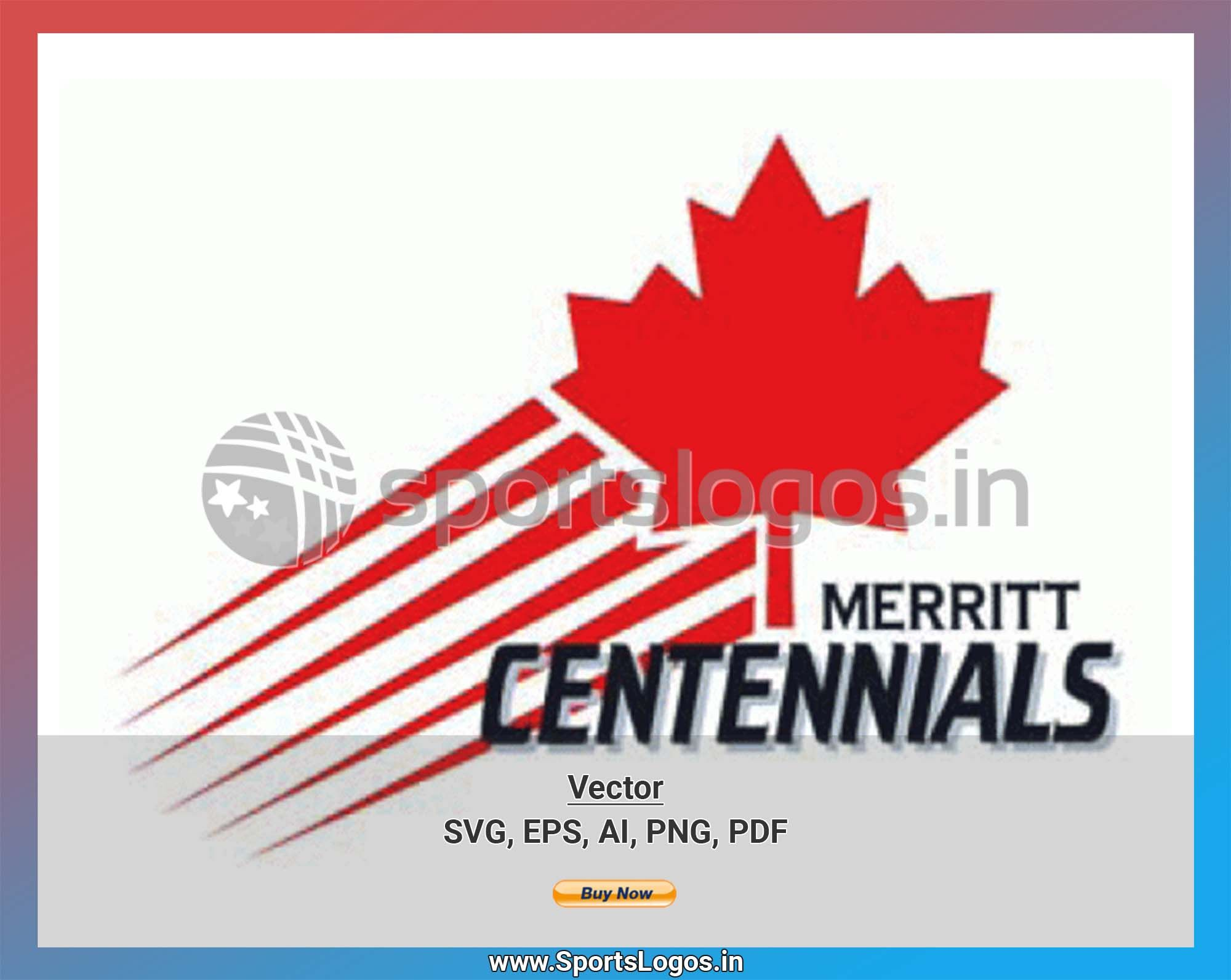 Merritt Centennials Hockey Sports Vector Svg Logo In 5 Formats Spln002596 Sports Logos Embroidery Vector For Nfl Nba Nhl Mlb Milb And More In 2020 Embroidery Logo Sport Hockey Sports Logo