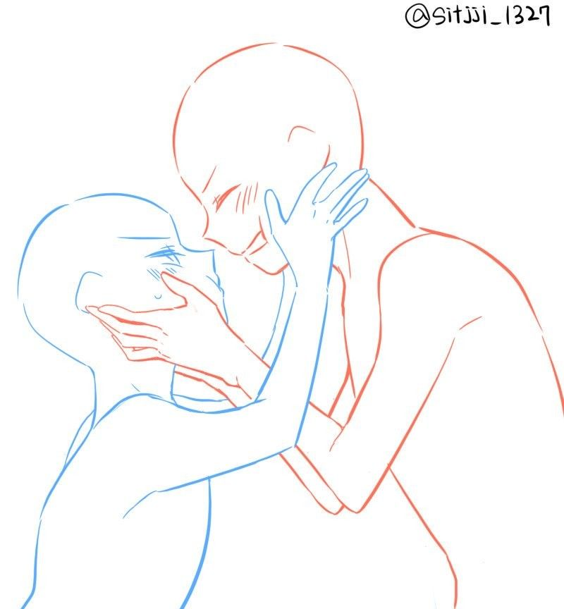 Pair ych two people anime poses | Art | Drawings, Anime