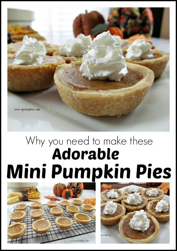 Why you need to make these adorable Mini Pumpkin Pies?  Easy peasy and use a pan you already have!.