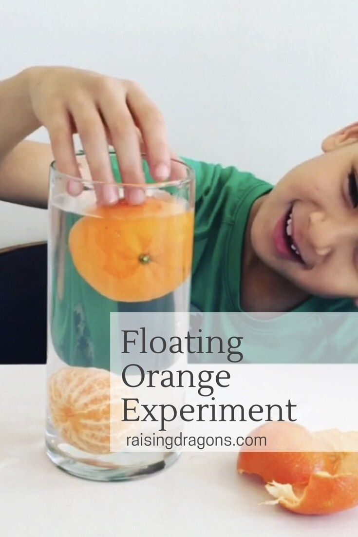 Floating Orange Science Experiment * ages 2-8 ⋆ Raising Dragons