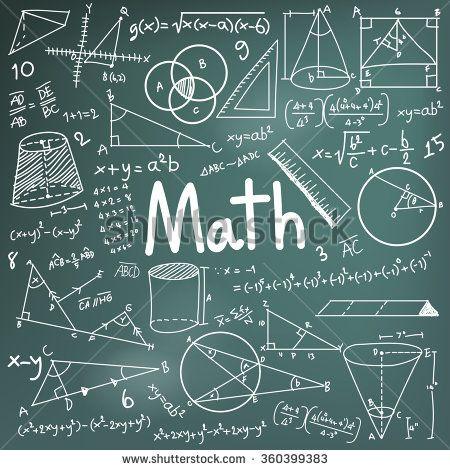 Math theory and mathematical formula equation doodle handwriting ...