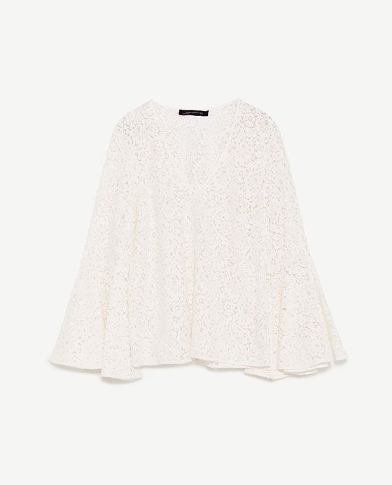 1e8a8172 Image 8 of LACE BLOUSE WITH BELL SLEEVES from Zara | Things I'll Buy ...
