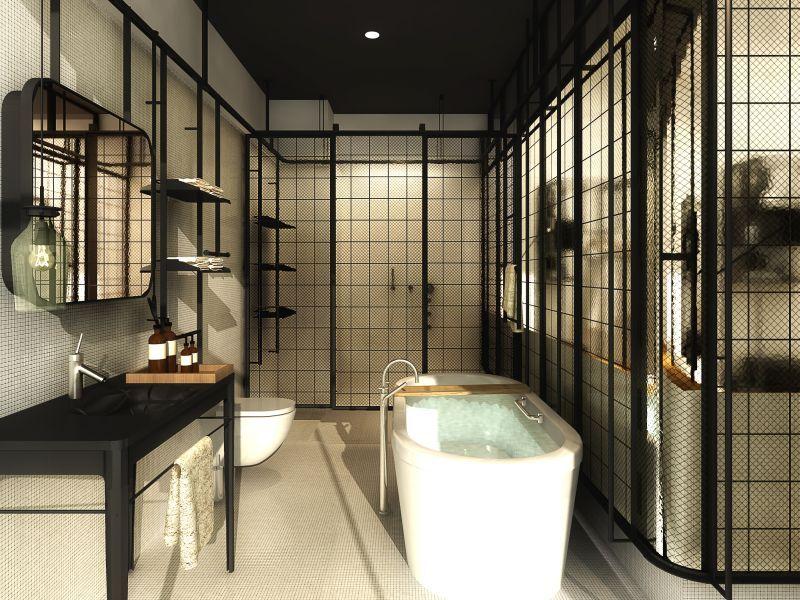 Boutique Hotel Bathroom Modern Chic Contemporary Luxury Interior Design Inspiration