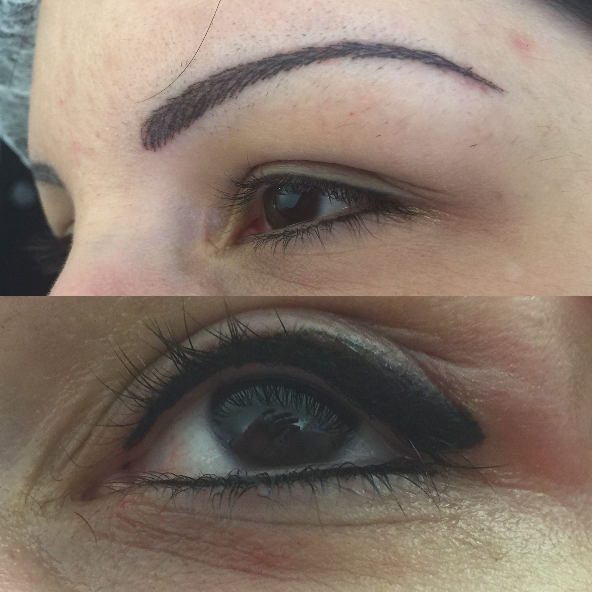 Augen permanent make up