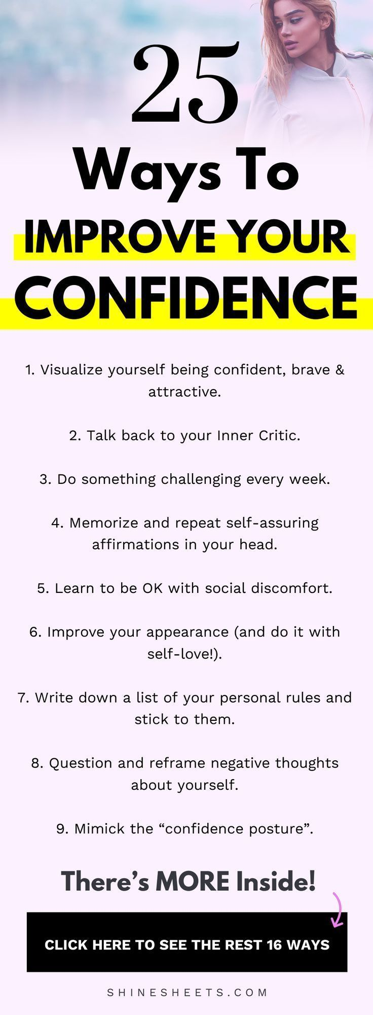 25 Ways To Improve Your Self Confidence (Drastically