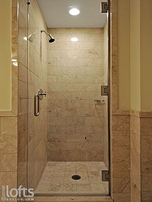 Tiled Shower Stalls Separate Shower Stall With Glass Door
