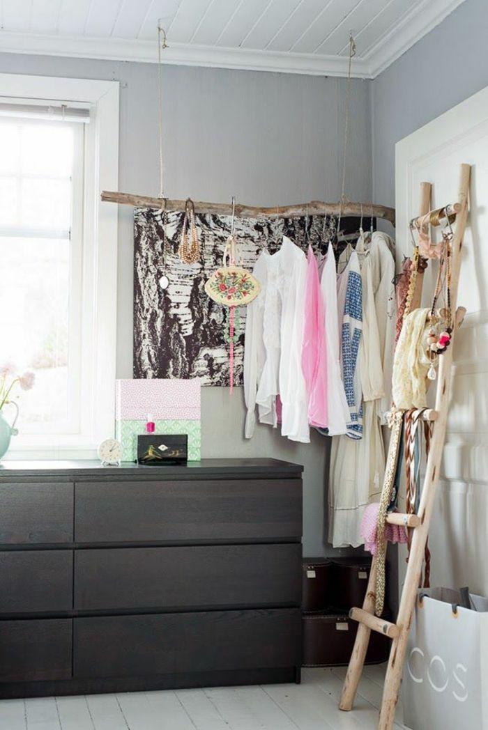 Dekoideen Diy Alte Gegenstände Holzleiter Garderobe Wohnzimmer