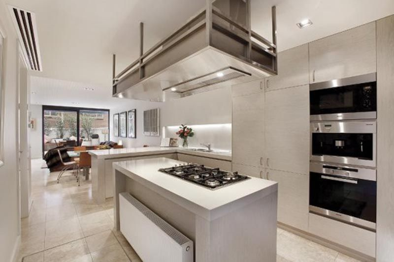 the kitchen with simple design inside the house - Home Design Inside Kitchen