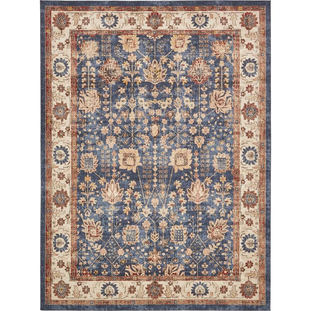 Unique Loom Utopia Antheia Terracotta 8 0 X 8 0 Round Rug 3135302 The Home Depot Unique Loom Area Rugs Floral Area Rugs