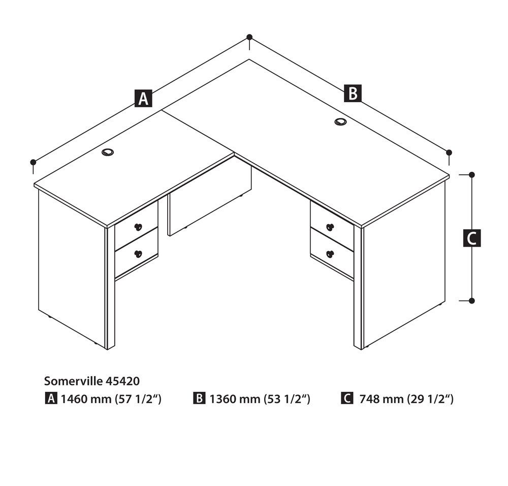 Average Office Desk Size Home Office Furniture Collections Check