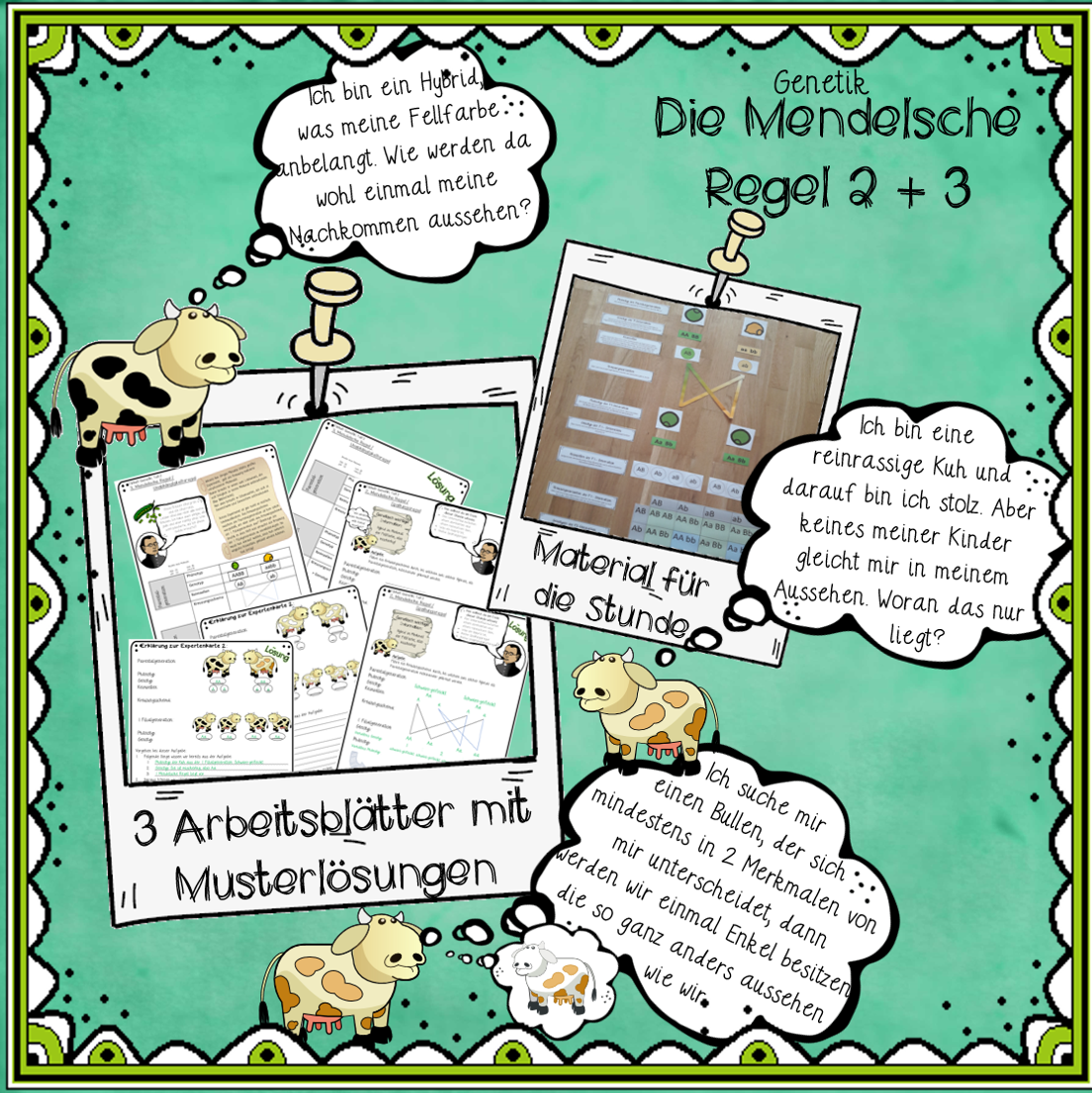 Genetik Klasse 9 und 10 jetzt auf: www.materialtanten.de   Biologie ...