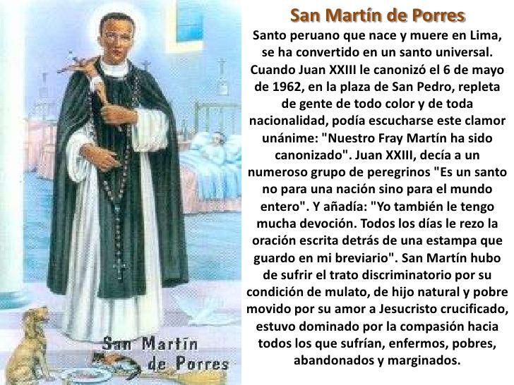 Oracion a san martin de porres buscar con google for Editorial periodico mural