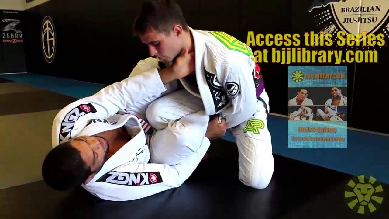 Reverse De La Riva Sweep With Andre Galvao Bjjlibrary Com Jiu Jitsu Videos Jiu Jitsu Training Andre Galvao