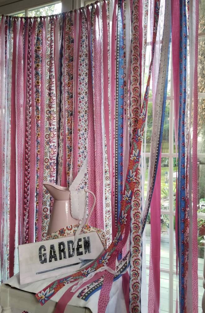 Bohemian Curtain Shabby Chic Folk Art Country Cottage Wedding Photo Backdrop