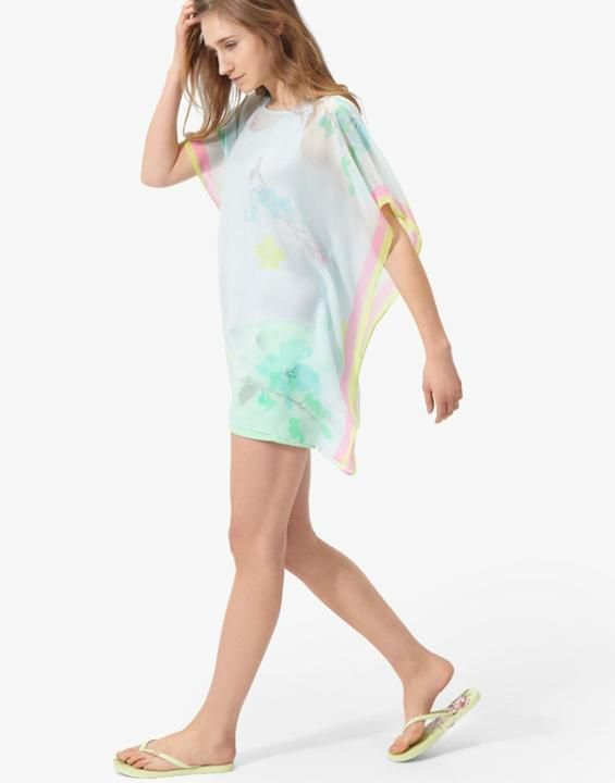 6168f7f2072 Rosanna Cool Blue Floral Summer Cover up , Size One Size | Joules UK ...