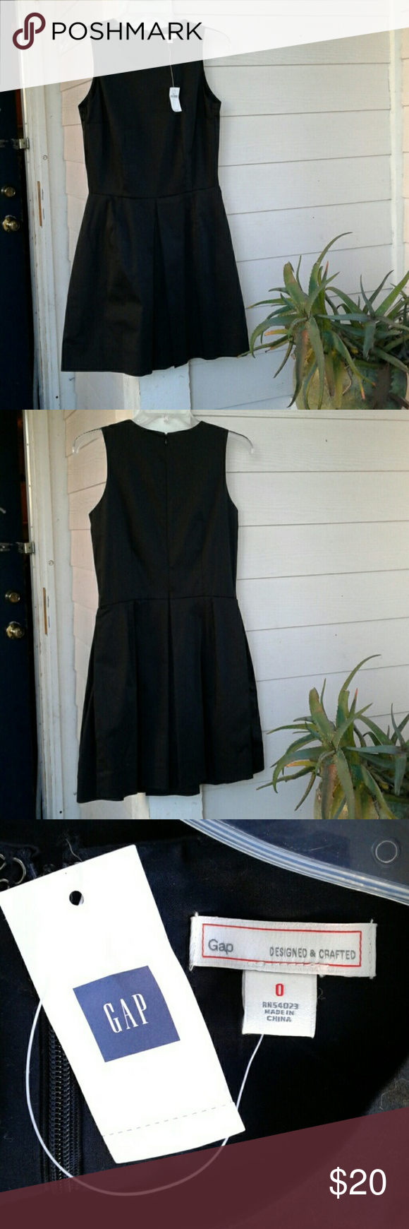 GAP FIT & FLARE BLACK DRESS